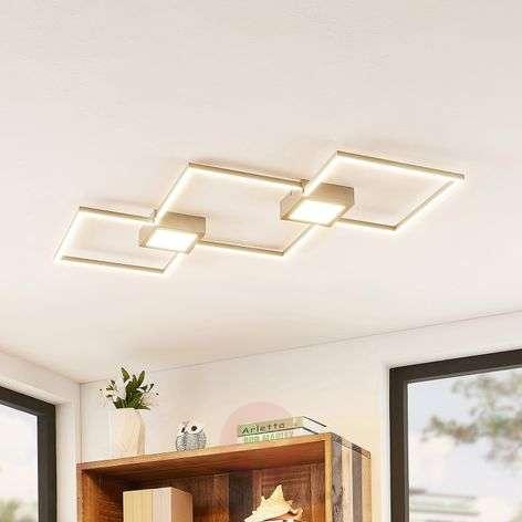 Lindby Makoto -LED-kattovalo, 2-lamp., himmennys