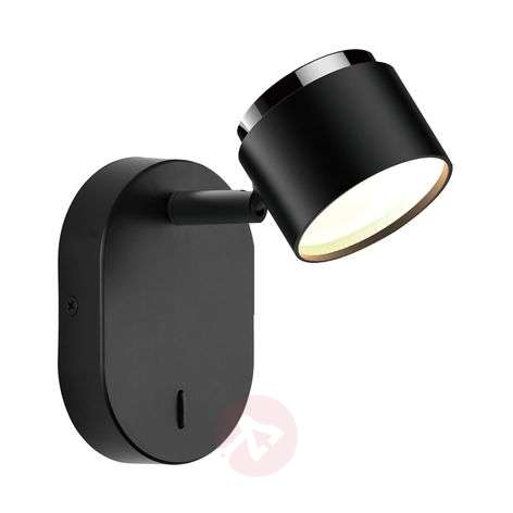 Lindby Marrie -LED-spotti katkaisimella, musta