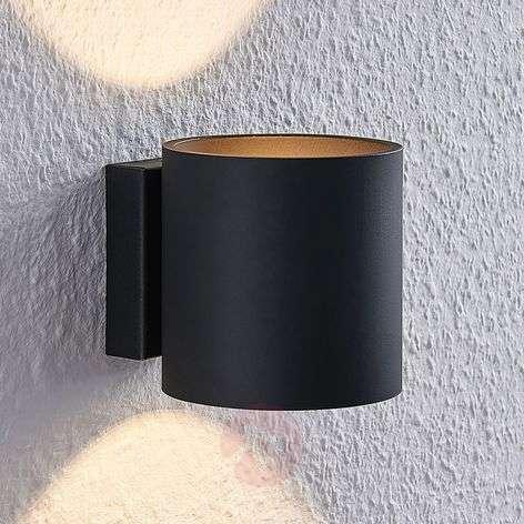 Lindby Mirza alumiiniseinävalaisin, pyöreä, musta