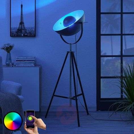 Lindby Smart 3-jalkainen LED-lattiavalaisin Muriel