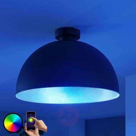 Lindby Smart LED-kattovalaisin Bowl 41 cm musta