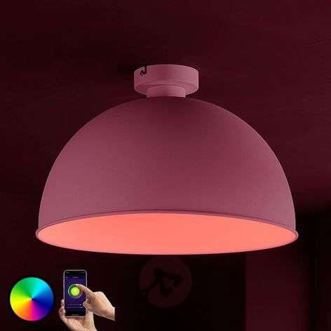 Lindby Smart LED-kattovalaisin Bowl 41 cm valk.