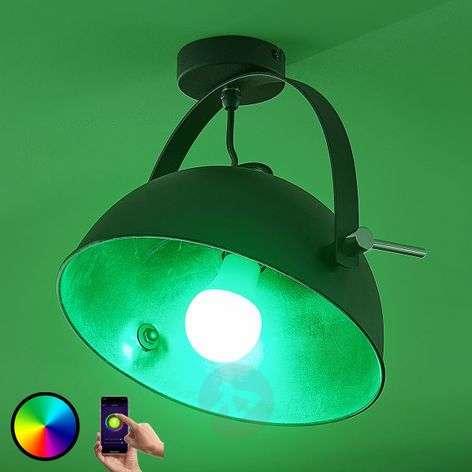 Lindby Smart LED-kattovalaisin Muriel, hopea