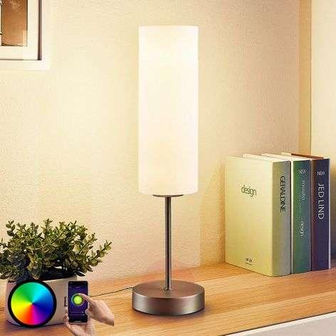 Lindby Smart LED-pöytävalaisin Felice, RGB-tila