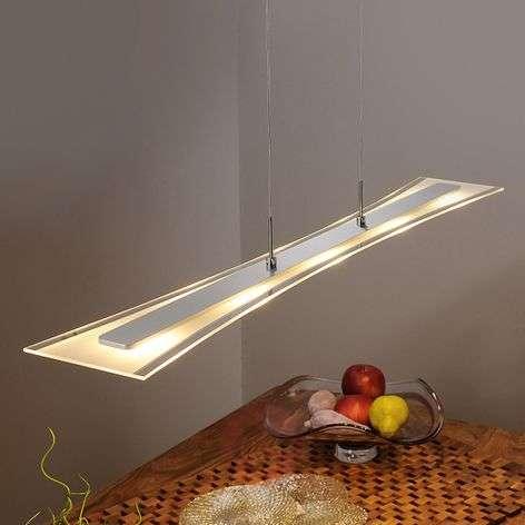 Litteä LED-riippuvalaisin Runia lasista