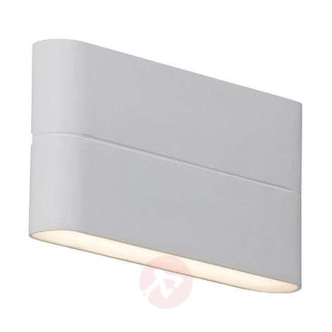 Litteä LED-ulkoseinävalaisin Telesta, valkoinen