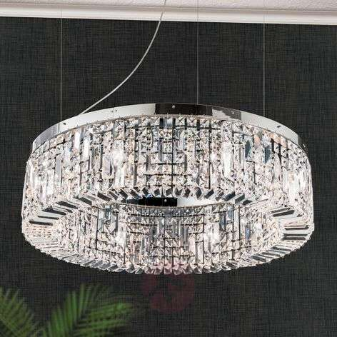 Loistava kristalliriippuvalaisin Ring, 80cm kromi