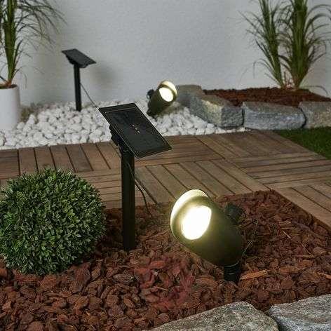 Lore – 2 kpl aurinkokäyt. LED-spotit maapiikillä