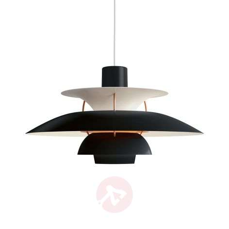 Louis Poulsen PH 5 -design-riippuvalaisin, musta