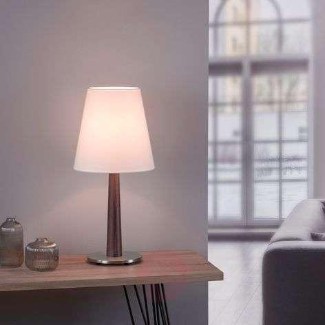 Lucande Elif -pöytä valkoinen kartiomainen tumma
