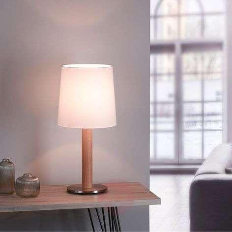 Lucande Elif -pöytä valkoinen sylinteri luonnon
