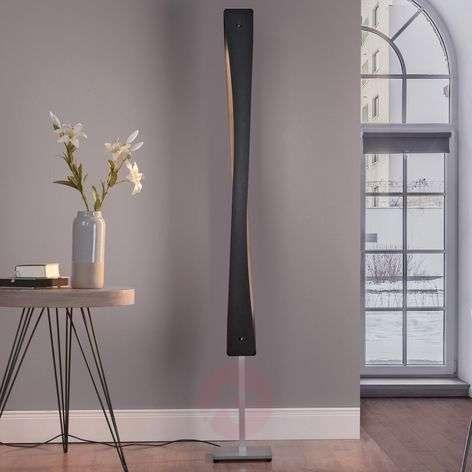 Lucande Lian LED-lattiavalaisin, musta, alumiini