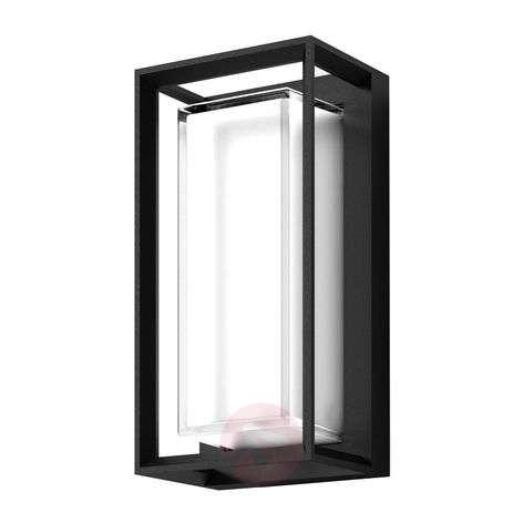 Lucande Ronida -LED-ulkoseinävalaisin, kulmikas
