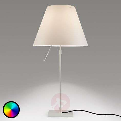 Luceplan Costanza pöytäval., Philips Hue -lamppu