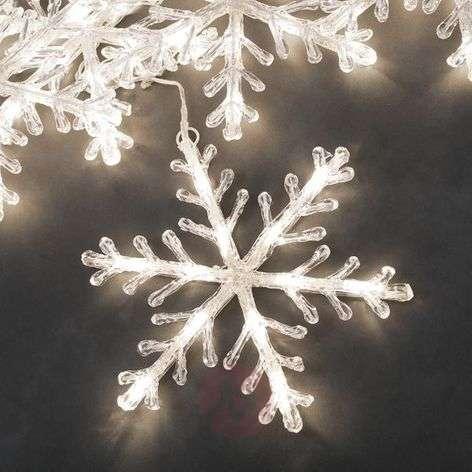 Lumihiutale-LED-valoketju 5-os lämmin valkoinen 4m