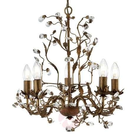 Lumoavan kaunis 5-lamppuinen Almandite-kattokruunu-8570901-31
