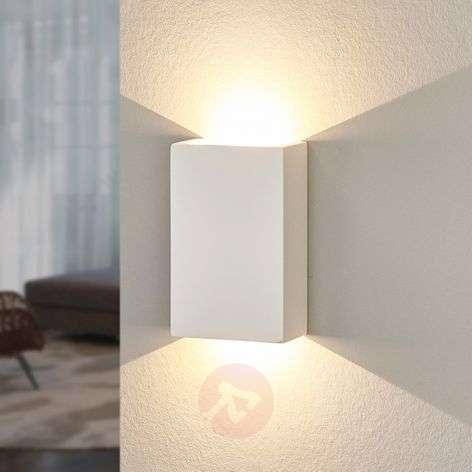 Maalattava LED-seinävalaisin Fabiola kipsistä