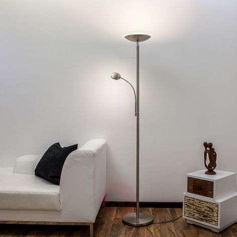 Malea – LED-lattiavalaisin + lukuvarsi, nikkeliä