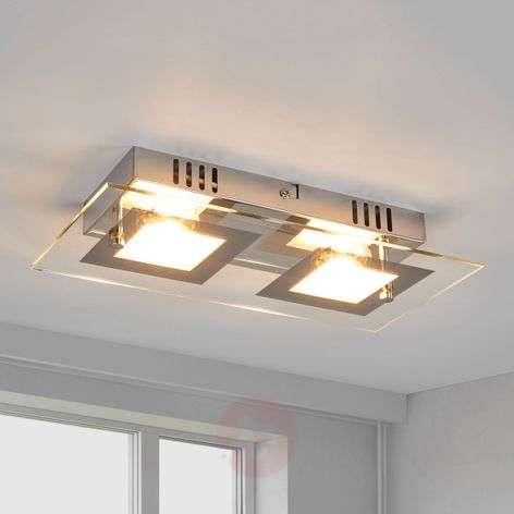 Manja - kaksivaloinen LED-kattovalaisin, kromi