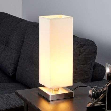 Martje - valkoinen pöytävalaisin E14-LED-lampulla