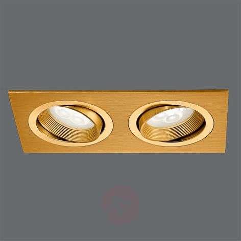 Messinginvärinen LED-uppovalaisin MINAR, 2-lampp.