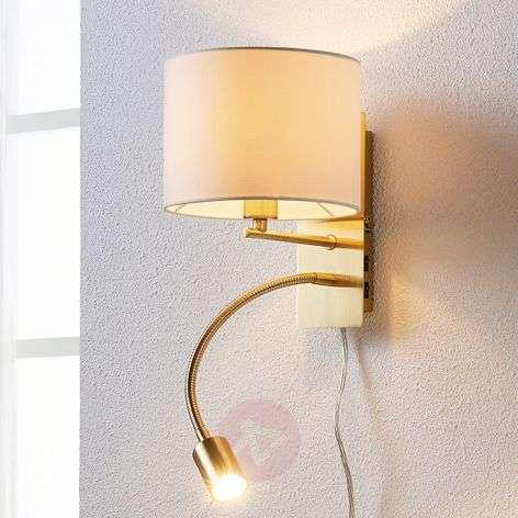 Messinginvärinen seinävalaisin Florens, LED-lukuva