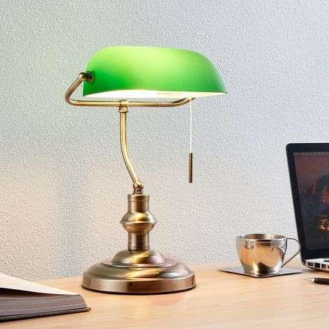 Milenka - työpöytävalaisin vihreällä varjostimella