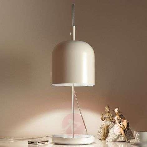 Moderni LED-pöytävalaisin Puk, valkoinen
