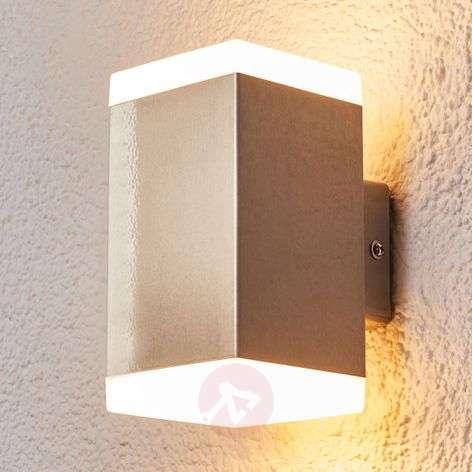 Moderni LED-ulkoseinävalaisin Hedda, ruostumaton