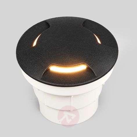Musta Ceci 120-3L-LED-pohjaan upotettava valaisin