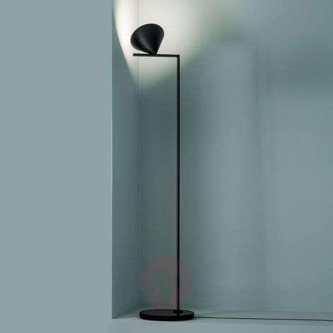 Musta design-lattiavalaisin Capitain Flint