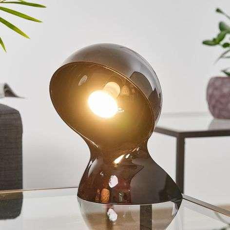 Musta design-pöytälamppu Dalù