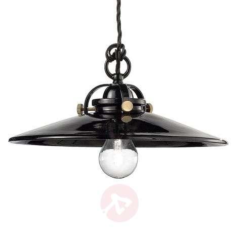 Musta, keraaminen Edoardo-riippuvalaisin, 31 cm