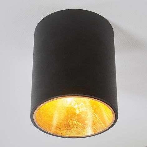 Musta-kultainen LED-kattolamppu Juma, pyöreä