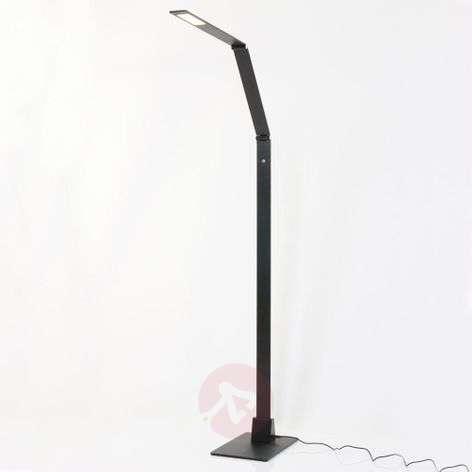 Musta LED-lattiavalaisin Serenade himmentimellä