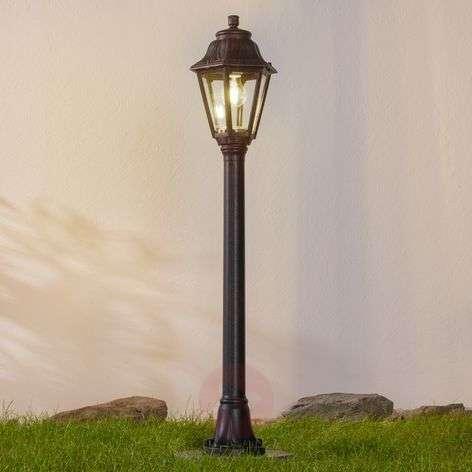 Musta LED-pylväsvalaisin Mizar Anna merivedenkest.