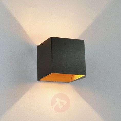 Musta LED-seinävalaisin Aldrina, sisäosa kullanv.-9620716-31