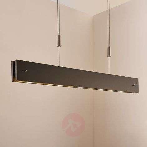 Musta, puinen LED-riippuvalo Karinja