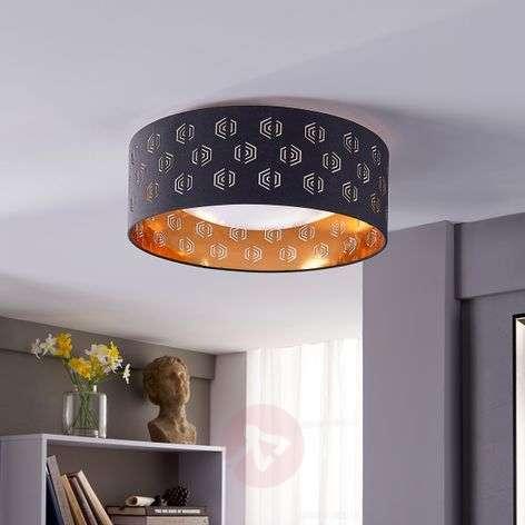 Mustakultainen LED-kattovalaisin Marsel, kangasta