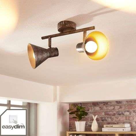 Mustakultainen LED-kattovalaisin Zera, easydim-9621540-32