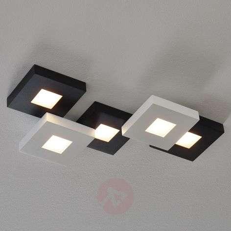 Mustavalk. LED-kattovalaisin Cubus 5-lamppuinen-1556074-32
