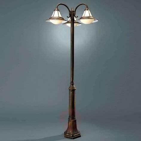 Näyttävä 3-lamppuinen valopylväs Sofia