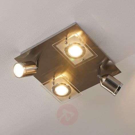 Nelikulmainen LED-kattovalaisin Fjolla, himmenn.