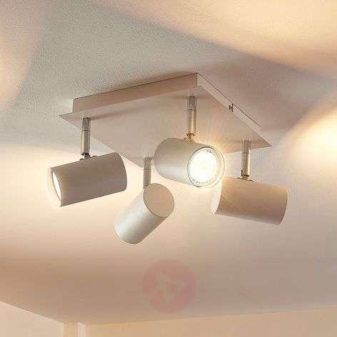 Nelikulmainen LED-kattovalaisin Iluk, 4 lamppua