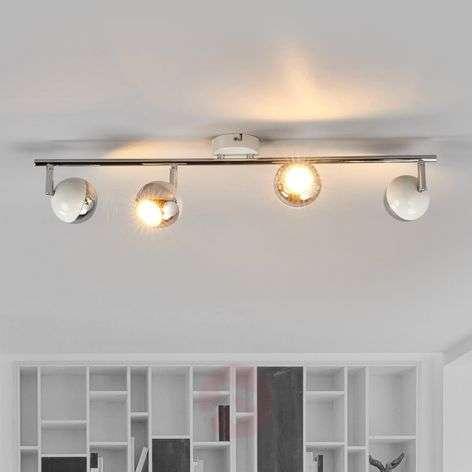 Nelilamppuinen Arvin LED-valaisin, valkoinen