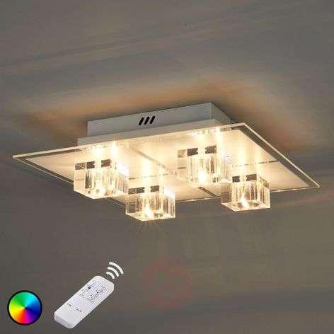 Nelilamppuinen LED-kattovalaisin Artjom, RGB