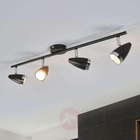 Nelilamppuinen LED-kattovalaisin Ron, säädettävä