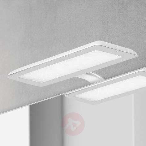 Nikita-LED-peilivalaisin, valk., teräksenharmaa