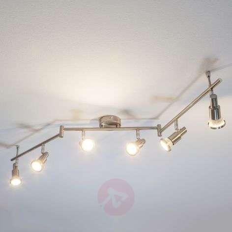 Nikkelin värinen led-kattovalaisin Aron, 6 lamppua