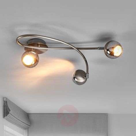 Nikkelin värinen LED-kattovalaisin Arvin, 3-lampp.